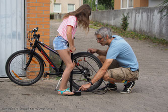 Eine fest installierte Lichtanlage ist am Kinderrad sinnvoll