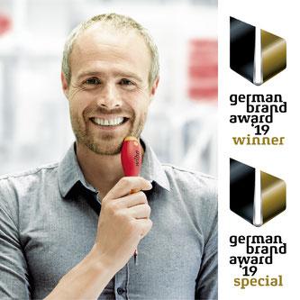 © Wiha // Handwerkzeughersteller Wiha aus Schonach im Schwarzwald freut sich über die zweifache Auszeichnung im internationalen Marken-Wettbewerb des German Brand Awards 2019.
