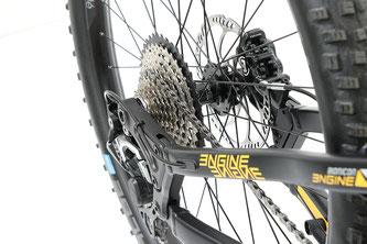 Das variable Ausfallende ermöglicht es, das Bike als Trail- und Enduro-Variante zu nutzen.
