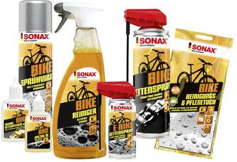 Sonax hat das Programm für die Fahrradpflege erweitert, speziell auf den E-Bike-Trend abgestimmt und das Design modernisiert.
