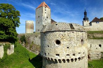 Burg Querfurt:  In Querfurt beginnt der Dolmenradweg.   Copyright: Wolfgang Kubak