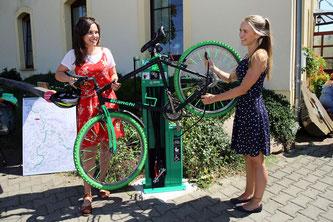 Mulderadweg - Fahrrad-Selbsthilfestation in Dehnitz - Foto: Andreas Schmidt