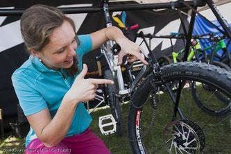 Steckachsen verhindern, dass Laufräder aus Versehen schräg montiert werden