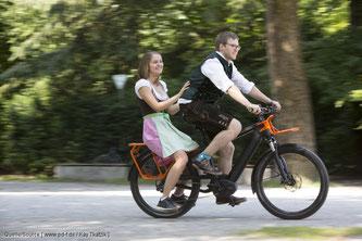 Die Mitnahme von Erwachsenen auf entsprechenden Fahrrädern wird wieder zugelassen.