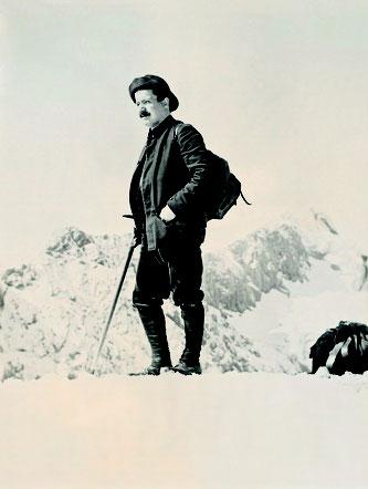 Rudolf Rother sen als Bergsteiger noch vor Verlagsgruendung_100 Jahre Jubiläum Rother Bergverlag_Foto Archiv Rudolf Rother jun