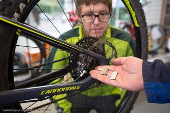 Schwierige Montageschritte beim Fahrrad fotografieren - Tipp vom pd-f