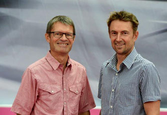 Klaus Wellmann, Geschäftsführer der Messe Friedrichshafen und Stefan Reisinger, Bereichsleiter OutDoor & EUROBIKE (von links)