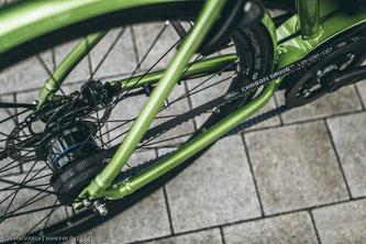 Rund zehn Prozent der Räder in Deutschland mit Riemen