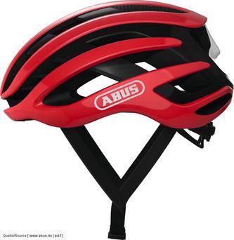 Zur Pflichtausstattung gehört ein möglichst aerodynamischer Rennradhelm