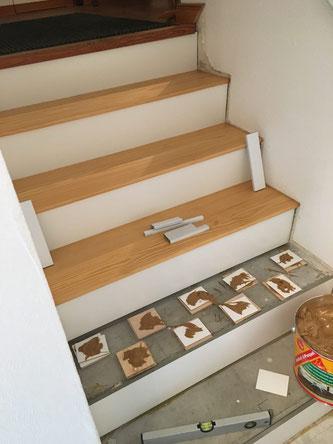 Stufenmontage