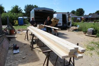 Vorbereitung der Baustelle