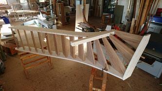 die Treppe ist fertig zur Montage beim Kunden