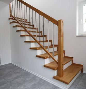 die Treppe ist fertig montiert