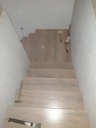 rustikale Optik der Stufen