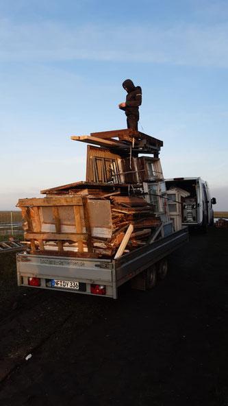 Entsorgung vom alten Holz