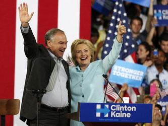Hillary Clinton hat sich Tim Kaine als ihre Nummer 2 ausgesucht. Foto: Rhona Wise