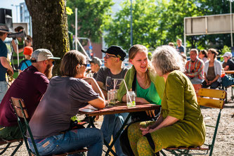 Wunderbares Ambiente am Giesinger Grünspitz (Foto: Green City e. V. / Jonas Nefzger)