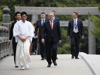 EU-Kommissionspräsident Jean-Claude Juncker auf dem Gipfel sieben großer Industrienationen (G7) im japanischen Ise-Shima. Foto: Toru Hanai / Pool