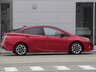 Das Design des Toyota Prius ist unverkennbar. Foto: Toyota