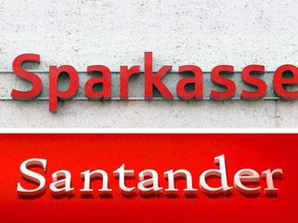 Die Sparkassen und die spanische Santander-Bank streiten seit Jahren um die Markenfarbe Rot. Foto: Jens Wolf