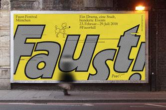 Das offizielle Faust-Festival-Plakat (Foto: © Faust-Festival München 2018)