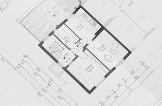 Beispiel eines Wohnungsgrundrisses (Foto: pixabay.com / cocoparisienne)
