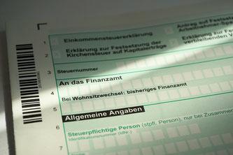 Formblatt zur Einkommenssteuererklärung (Symbolbild; Foto: pixabay.com / webandi)