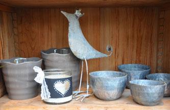 Deko und Geschenke - schöne Keramik und lustige Tierfigur