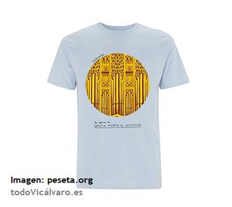 Camiseta turística de Vicálvaro diseñada por Laura Martínez del estudio de diseño peSeta®