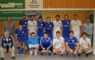 Die Finalisten SV Endingen und der SV Minzingen der zum ersten Mal am Turnier in Wyhl teilgenommen hat