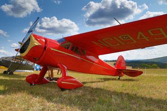 Die älteste noch fliegende Cessna Europas: Cessna C-165 Airmaster D-EUCP von 1939 (Foto: Stefan Schmoll))