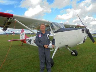 Jan Vlasveld mit Cessna C305 (O-1A/L-19A) Bird Dog - N509EA (Foto: Uwe Bodenheim)