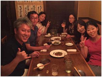 講座終了後の懇親会にて(Akiさんの写真をお借りしました!)