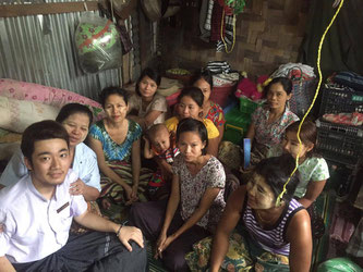Sasa visits local mothers and gives a brief lecture about microfinance