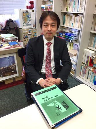 Prof. Hiroshi Miyashita speaks during an interview with Hakumon Herald.