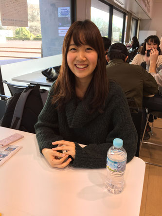 Hono Kimura answers questions during an interview with Hakumon Herald.