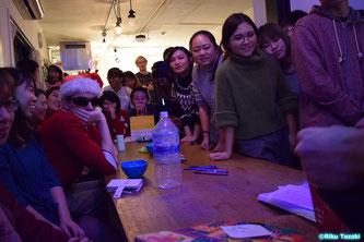 Residents enjoying the party.