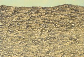 Andreas Grunert, Waldstück I, 2016, Acryl auf Leinwand, 200 x 140 cm, Ausschnitt
