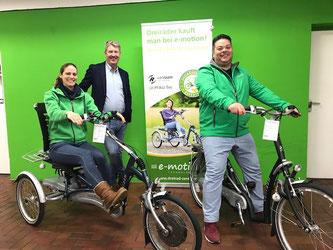 Van Raam Dreiräder und Elektro-Dreiräder Easy Rider und Tavara Balance im Dreirad-Zentrum in Stockelsdorf bei Lübeck