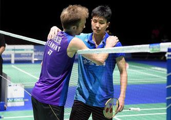 Marc Zwiebler und Tien Chen Chou (Bild: Bernd Bauer)