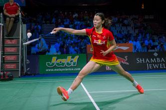 Könnte ihr zweites Olympiagold gewinnen: Li Xuerui (Foto: Bernd Bauer)