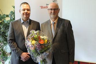 DBV-Präsident Thomas Born (l.) mit seinem Vorgänger Karl-Heinz Kerst.  Foto: Claudia Pauli.