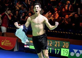 Der Augenblick des Triumphs für Yuhan Tan (Bild: Bernd Bauer)