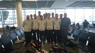 Das Thomas Cup Team auf dem Weg nach China