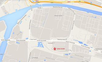 Géolocaliser l'agence de Long-Cours pour le dépôt de vos véhicules au départ du Havre