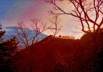 Abendlicht vor Okaya