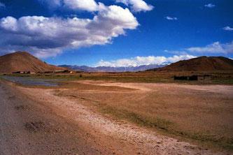 die unendlichen Weiten des tibetischen Hochlandes