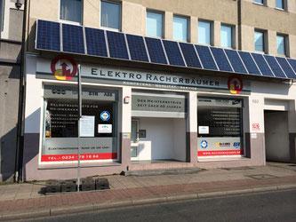 Außenansicht des Firmensitzes von Racherbäumer-Pflüger Elektroinstallationen in Bochum