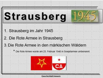 Rote Armee in Strausberg Marschall Shukow Hauptquartier Wehrmacht 1945