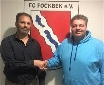 FC-Fußballobmann Steffen Sievers und Sascha Hoppe vom RTSV.